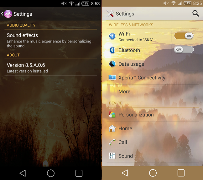 Download Xperia Sunset theme