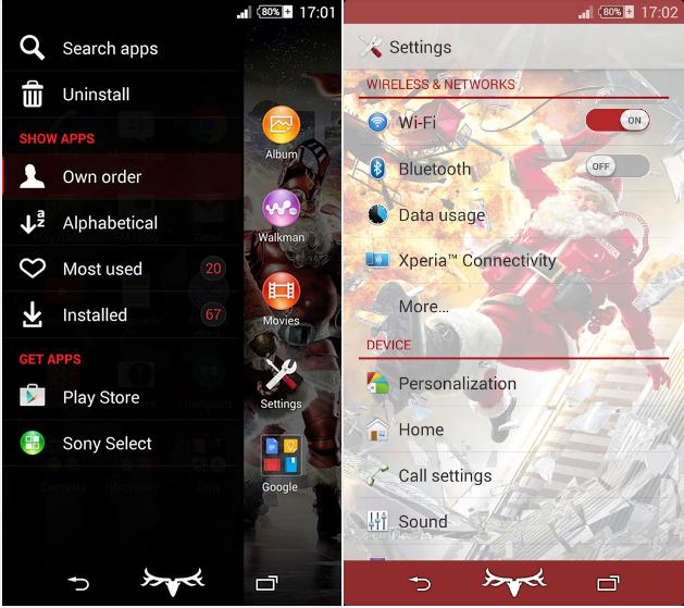 Download Xperia Super Santa theme