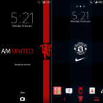 Try Blue Sky and Manchester United Xperia Theme