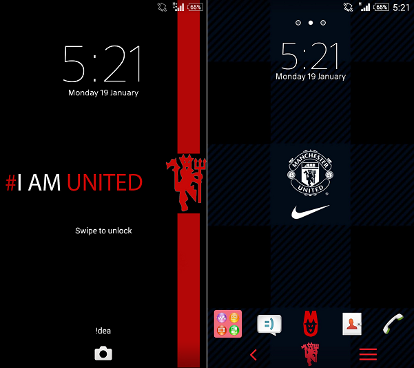 Manchester united xperia theme gizmo bolt exposing technology manchester united xperia theme voltagebd Images