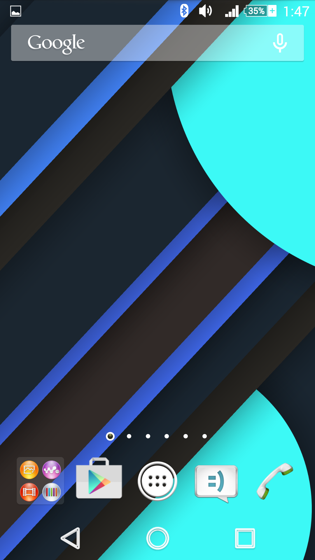 Material design wallpaper on Xperia Z2 Home Screen