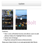 Sony Movie Creator 2.3.A.0.3 update rolling