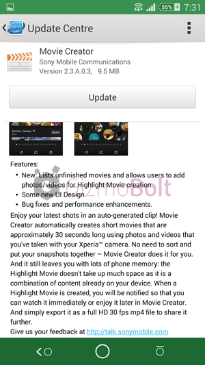 Movie Creator 2.3.A.0.3 apk