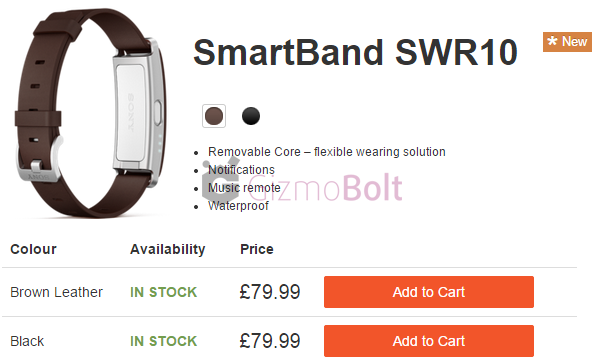 SmartBand SWR10 Brown Leather Strip price $121