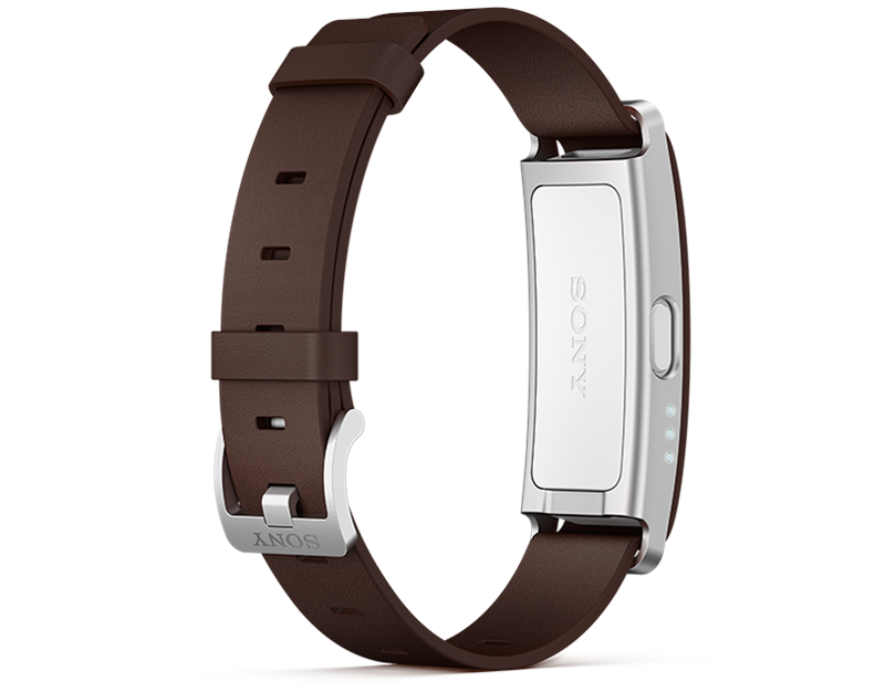 SmartBand SWR10 with brown leather wrist strap
