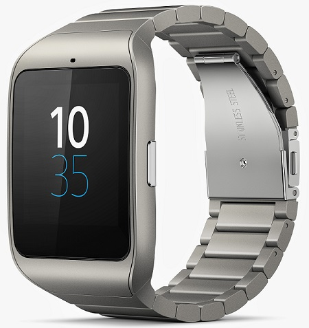 Stainless steel edition of Sony SmartWatch 3