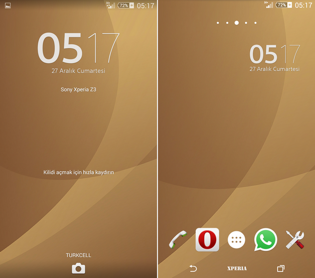 Xperia Brown Theme