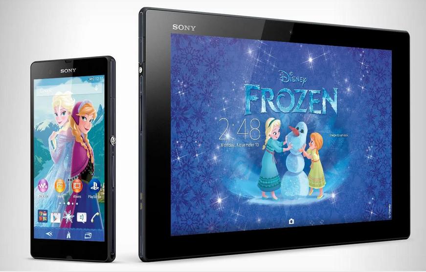 Xperia Frozen Elsa&Anna Theme apk