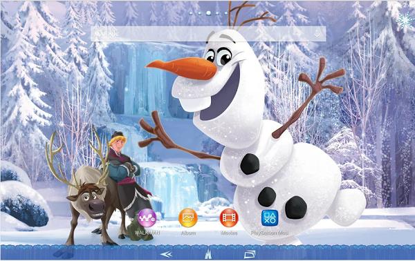 Xperia Frozen Olaf Theme