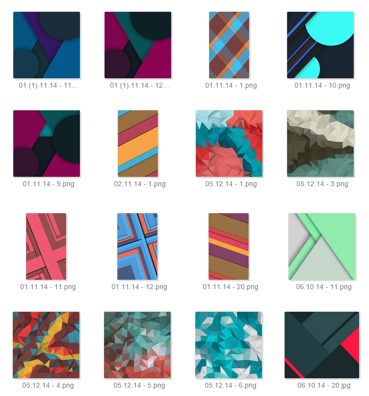 Xperia Material Design Wallpapers