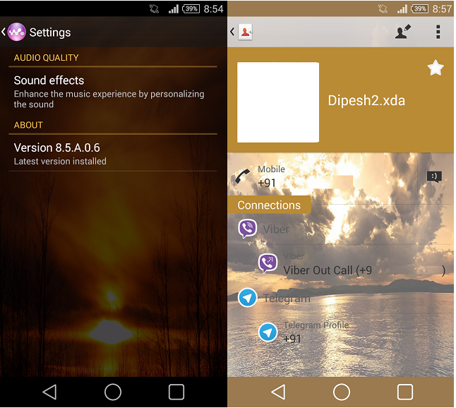 Xperia Sunset theme for android 4.3