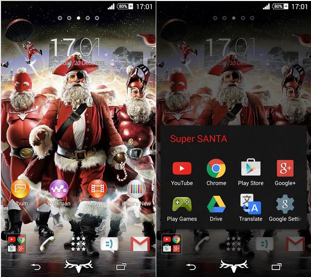 Xperia Super Santa theme