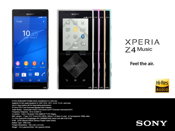 Xperia Z4 Music Leaked