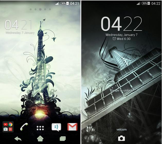 eXPERIAnZ Eiffel Tower Theme