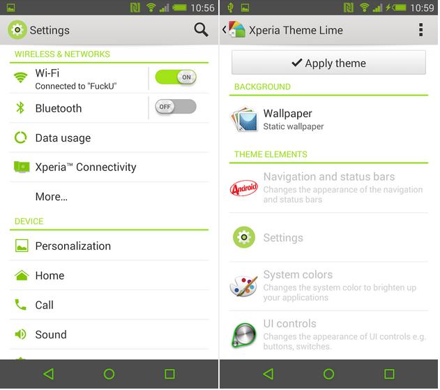eXpeRianZ Lime Theme  apk
