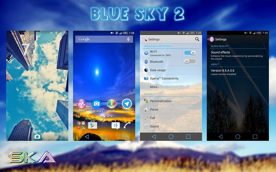 Xperia Blue Sky Theme