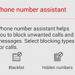 Install Phone Number Assistant feature from Xperia Z3 to block calls and messages