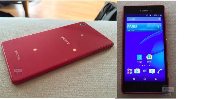 Red Xperia M4 Aqua Leaked