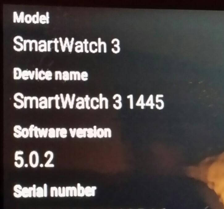 SmartWatch 3 Android 5.0.2 update