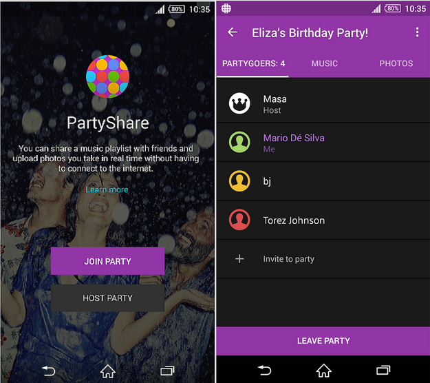 Sony Party Share 01.01.00 app