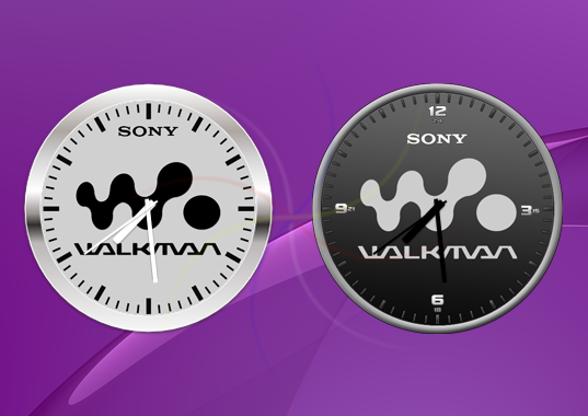 Sony Widget Clock Walkman app
