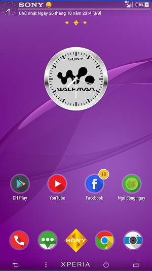 Widget Clock Walkman App