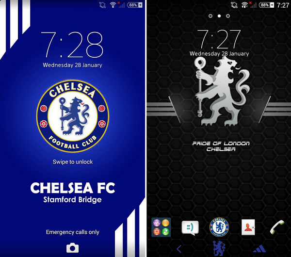 Theme Chelsea Fc For Android Install Xperia Chelsea Fc Bmw