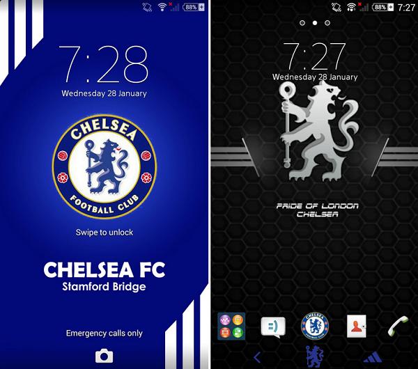 Xperia Chelsea FC Theme