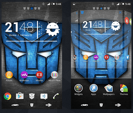 Xperia MoonBreakers Theme - Transformers Design