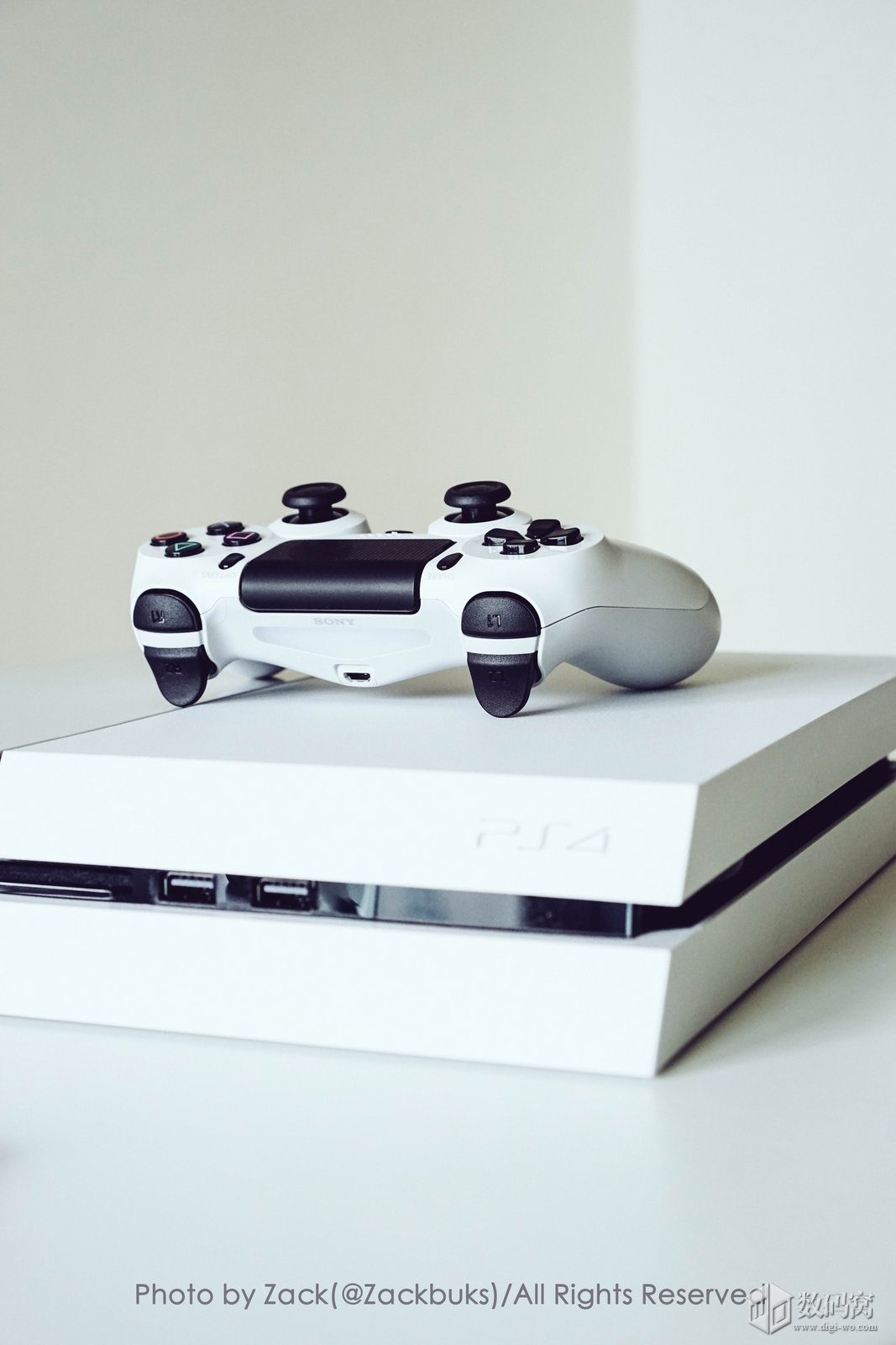 White and Black PS4