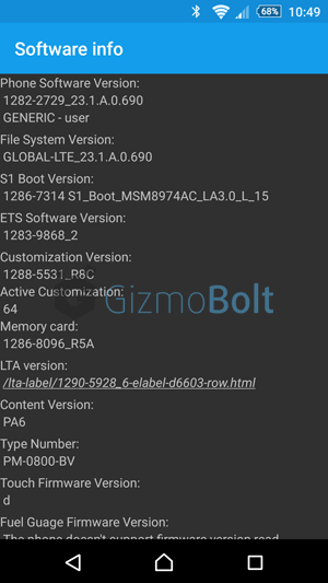 Android 5.0.2 23.1.A.0.690 firmware ftf