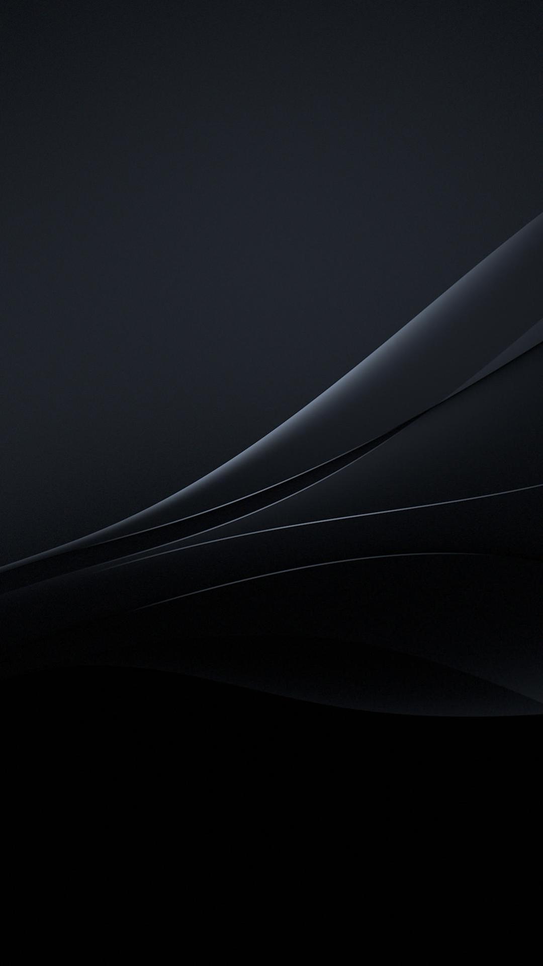 Xperia Lollipop Black Experience Flow Wallpaper