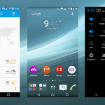 Xperia Material NXT Blue Theme based on Sony's Lollipop design