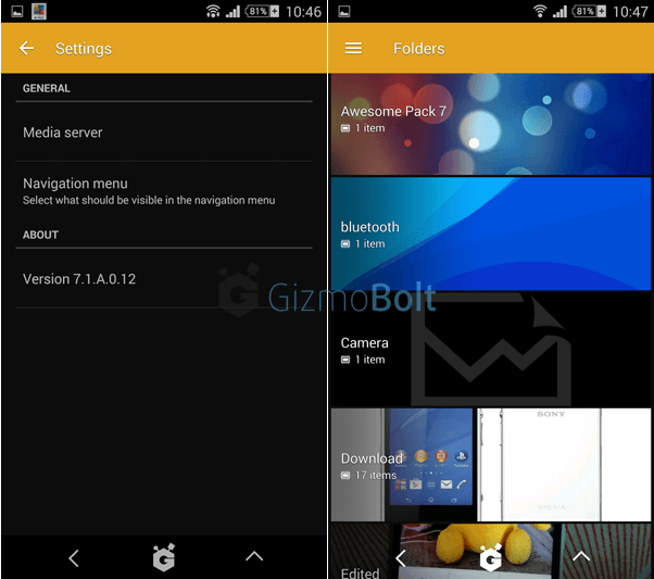 Sony Album 7 1 A 0 12 app available to Beta testing users