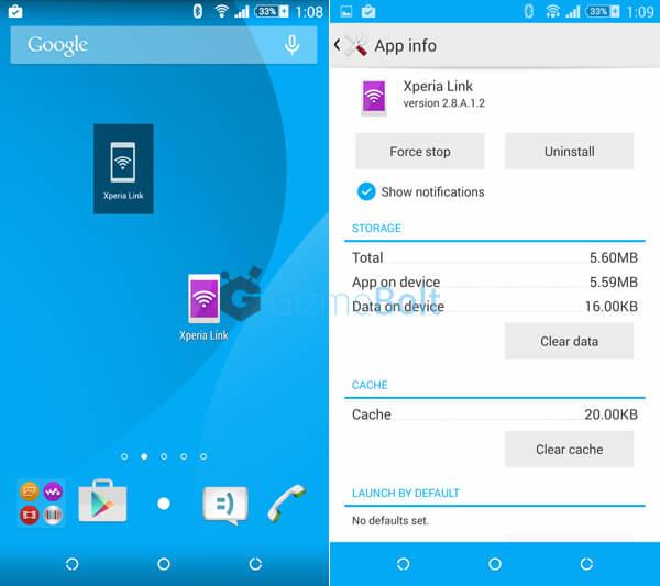 Xperia Link app