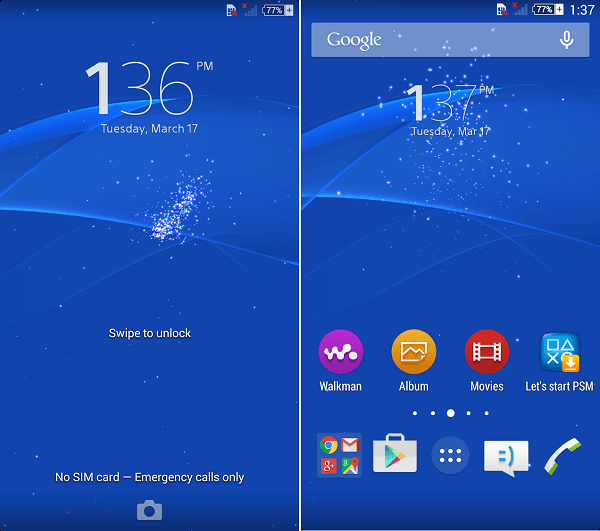 Xperia Z3 Android Lollipop LiveWallpaper