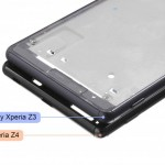 Alleged Xperia Z4 frame leaked – Compared to Xperia Z3 frame, capless USB port spotted