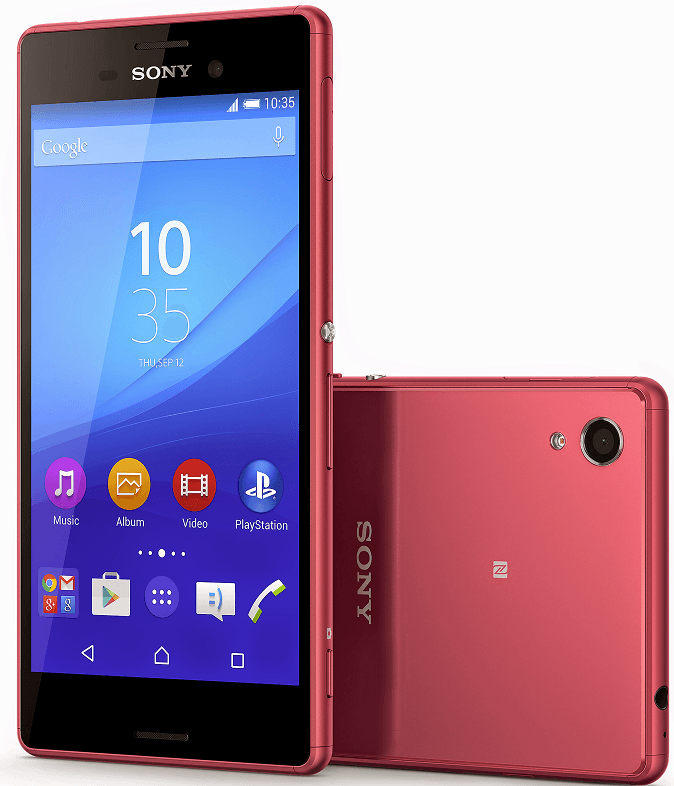 Xperia M4 Aqua in Red