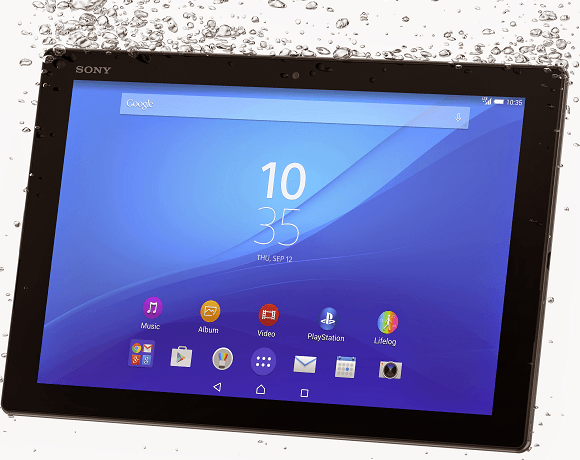 Xperia Z4 Tablet IP68 Ceritfied