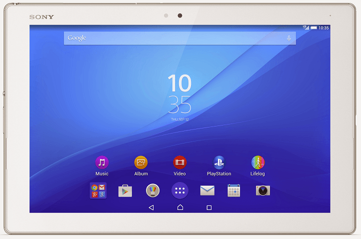 White Xperia Z4 Tablet