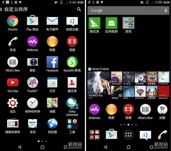 Xperia C3 Lollipop Home launcher
