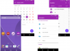 Purple Material Design Xperia Themes