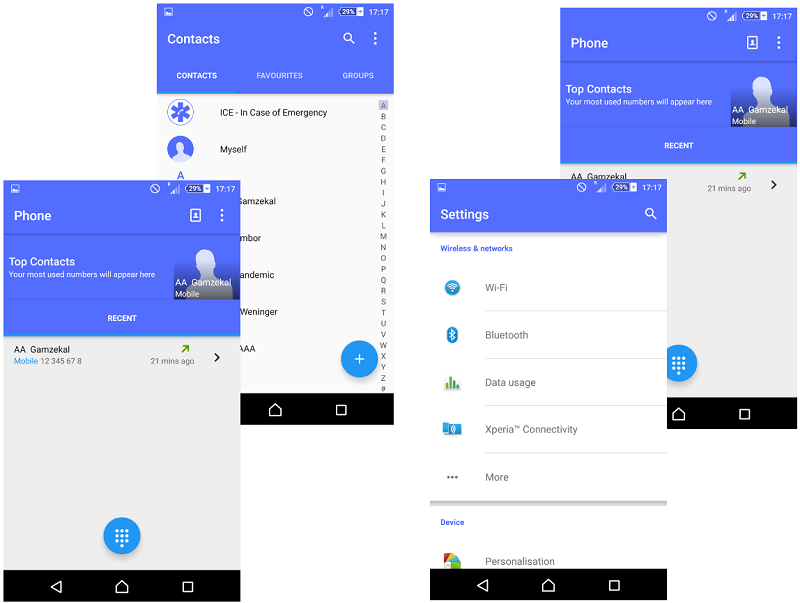 Blue Material Design Xperia Themes
