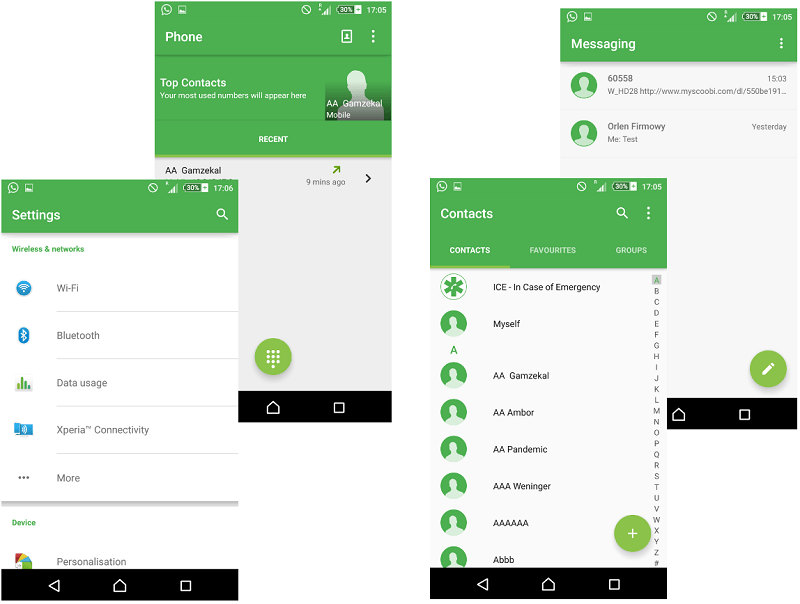 Green Material Design Xperia Themes