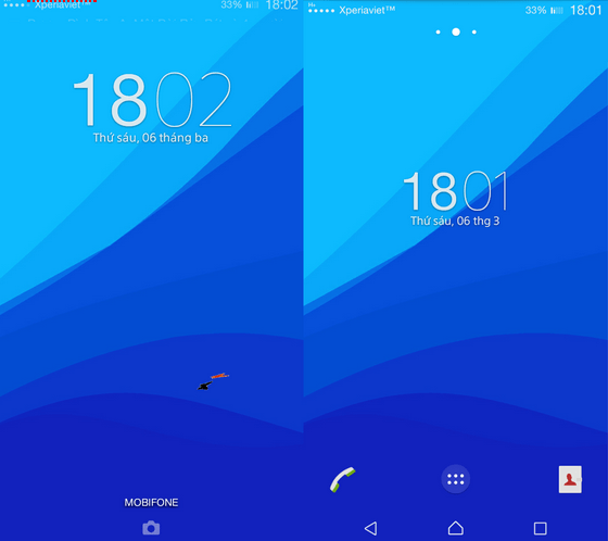 Xperia Lollipop Blue Theme