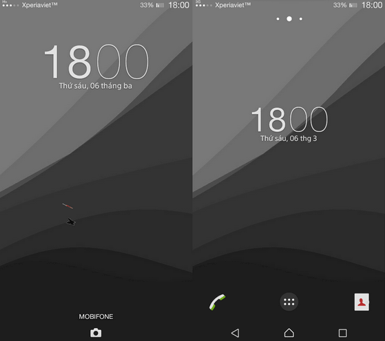 Xperia Lollipop Grey Theme
