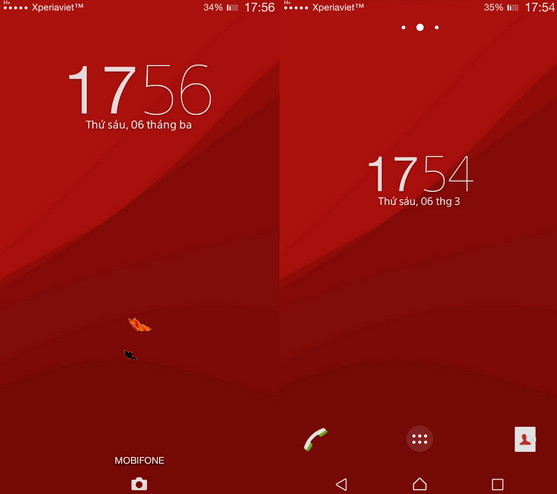 Xperia Lollipop Red Theme