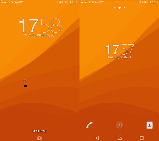 Xperia Lollipop Orange Theme