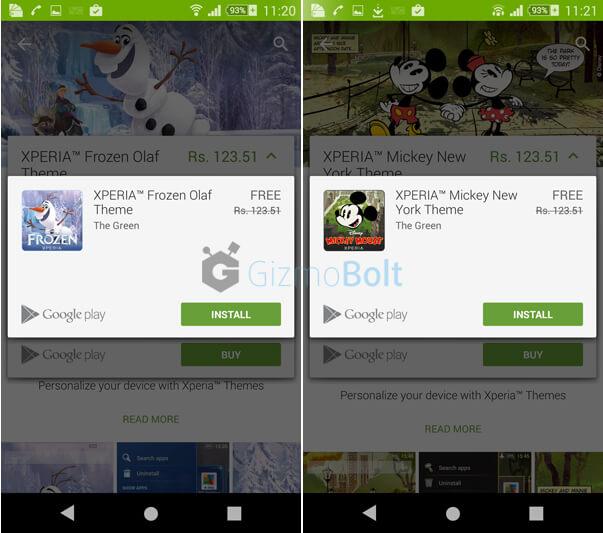 """Xperia Lounge """"Gold"""" Free Xperia Disney Themes"""