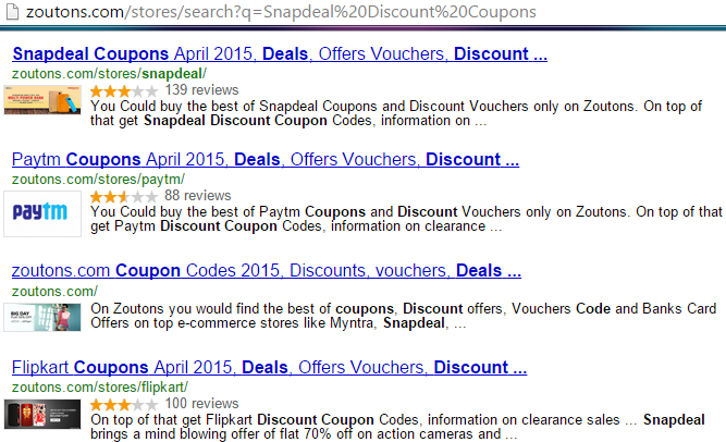 Snapdeal Discount Coupons